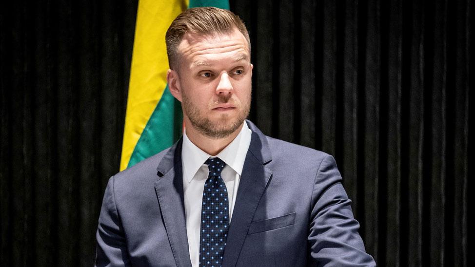 立陶宛外交部长蓝斯柏吉斯(Gabrielius Landsbergis)。(路透社)
