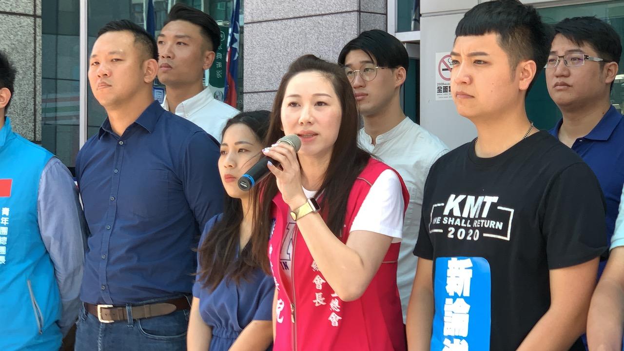 国民党青工总会长林杏儿。(记者夏小华摄)
