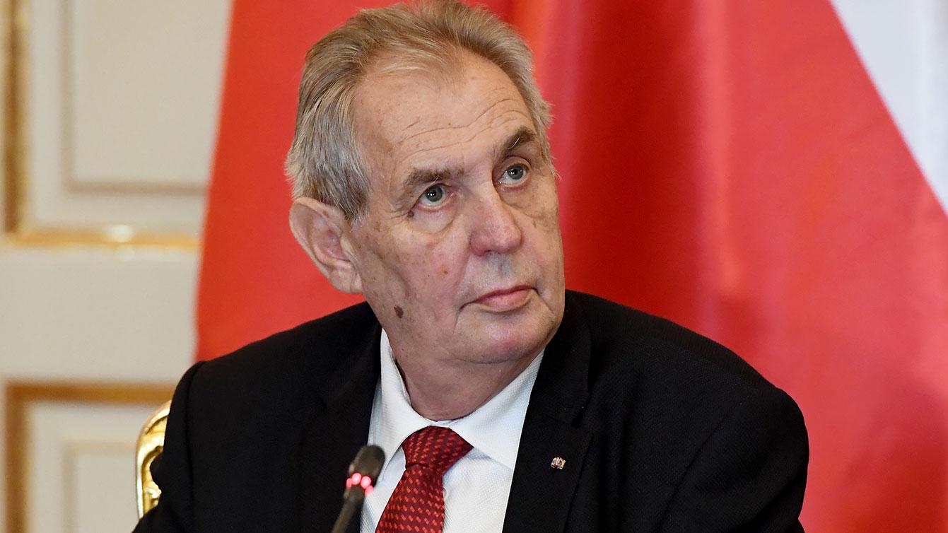 图为捷克总统米洛什·齐曼(AFP)