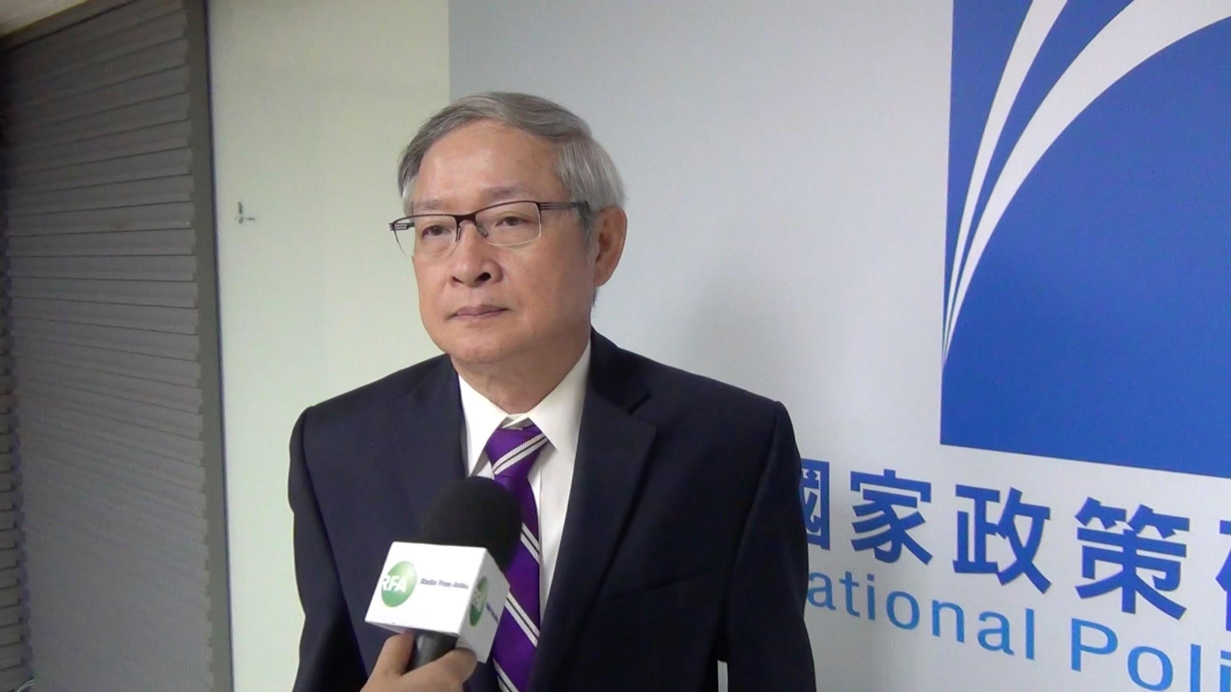 前国民党立法委员林郁方。(资料图/RFA)