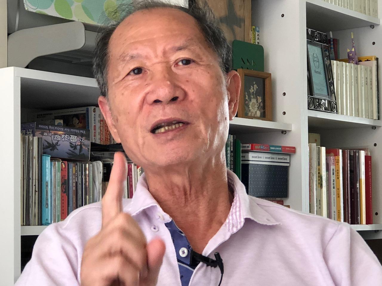 主张且实践非暴力抗争的台湾社运老将简锡(土皆)。(记者夏小华摄)