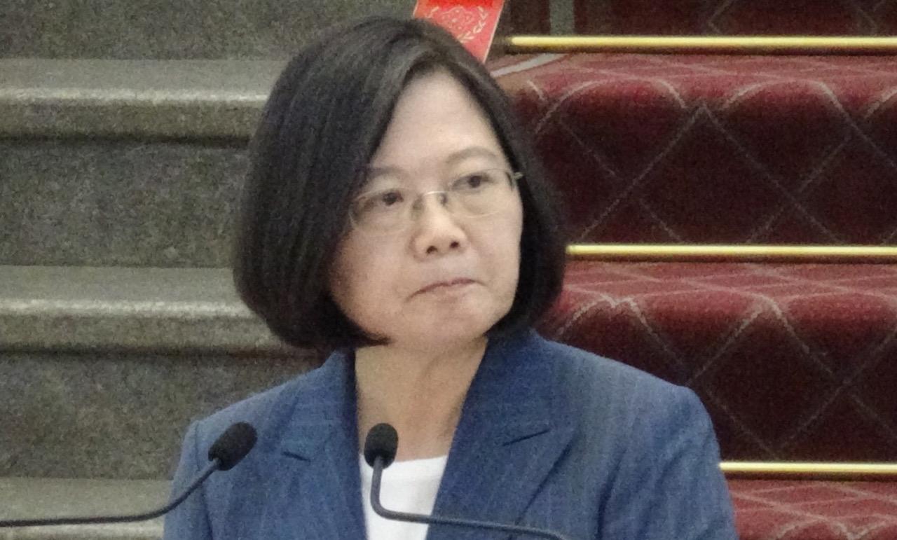 总统蔡英文8月1日回应对柯文哲组党看法。(记者夏小华摄)