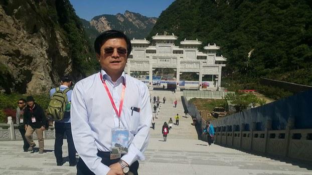蓝营学者蔡金树入境中国已失联400多天。(图源:蔡金树脸书)