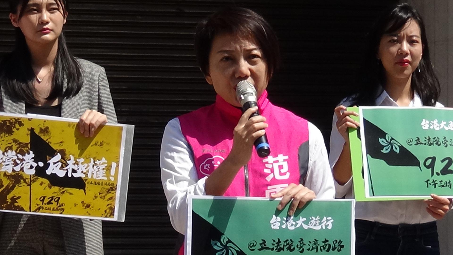 社会民主党立委参选人范云。(记者夏小华摄)