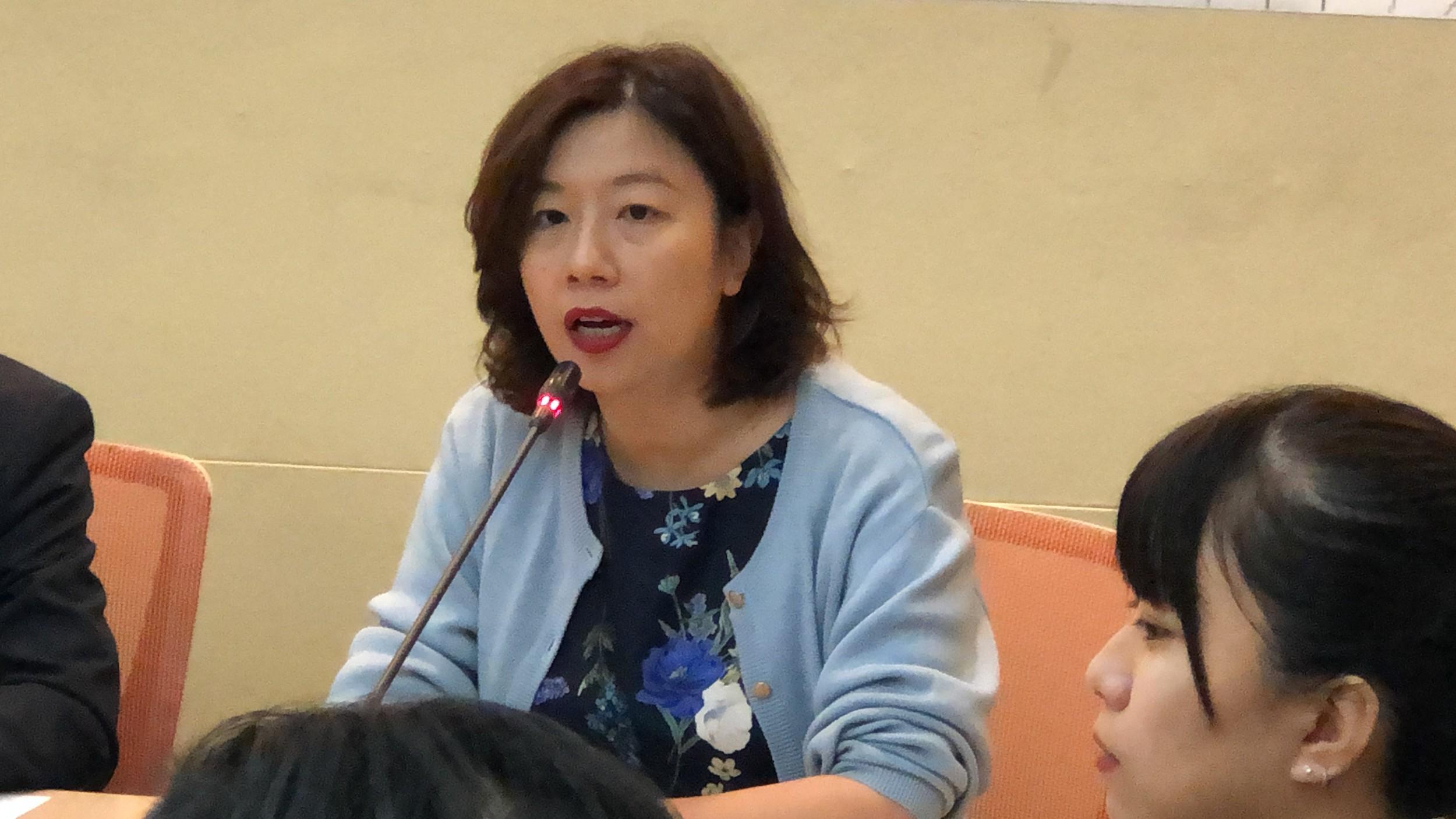 台湾民进党籍立委林静仪。(记者夏小华摄)