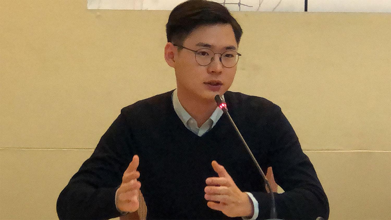 台湾基进党发言人颜铭纬。(记者夏小华摄)