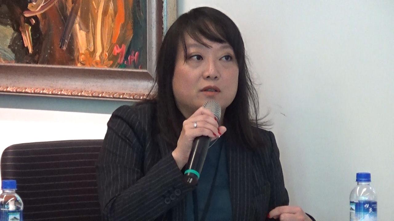 台湾民主基金会副执行长陈婉宜。(记者夏小华摄)