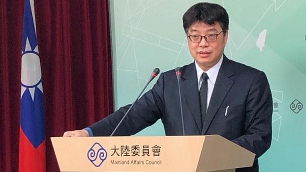 陆委会发言人邱垂正呼吁港府续押港女命案凶嫌陈同佳。(资料照、记者夏小华摄)