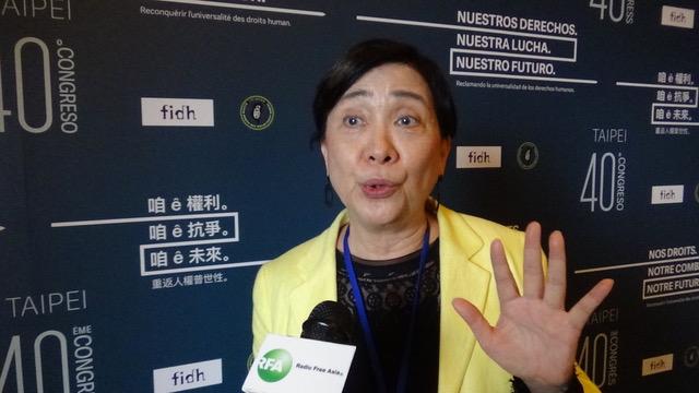香港民主党国际事务委员会主席刘慧卿。(记者夏小华摄)