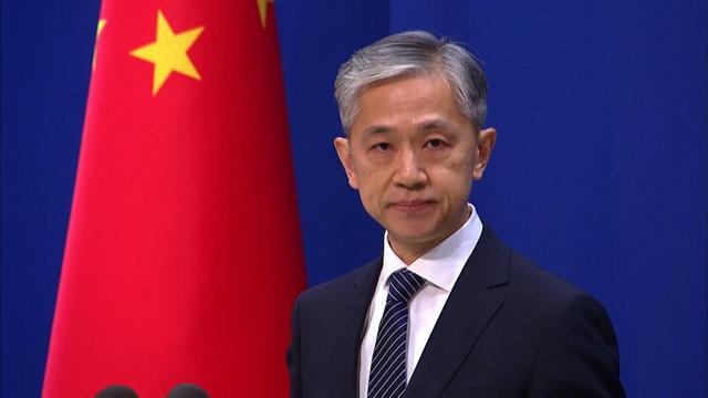 """中国大陆外交部发言人汪文斌27日表示,美国对台军售严重违反""""一个中国""""原则。(路透社)"""