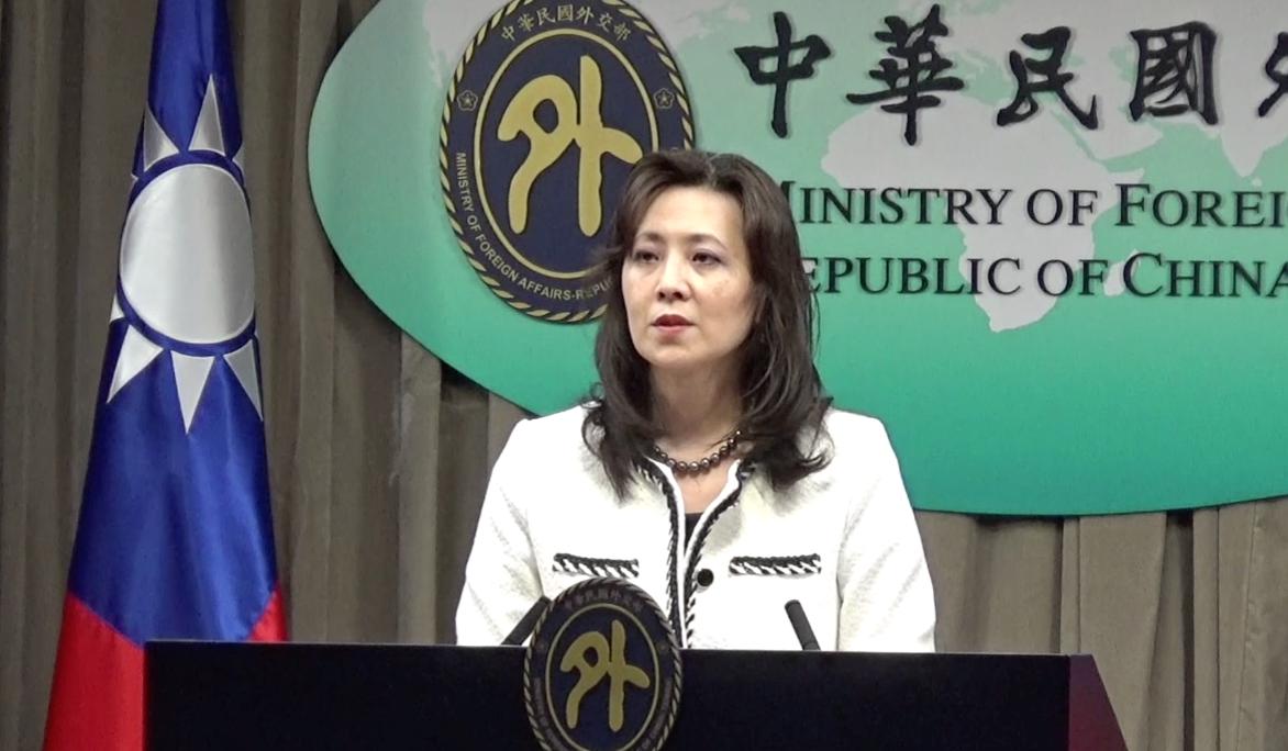外交部发言人欧江安10日回应世卫拒邀台湾出席。(记者夏小华摄)