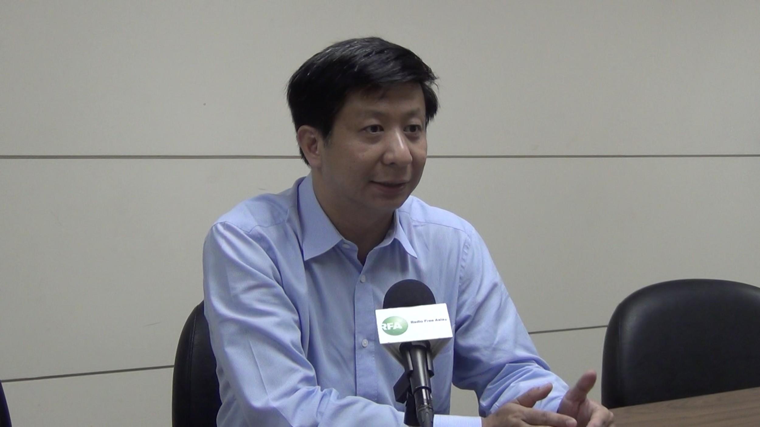 中華戰略前瞻協會研究員揭仲接受自由亞洲電臺採訪表示,例行軍事情報交換 官階不算突破。(RFA、資料照)