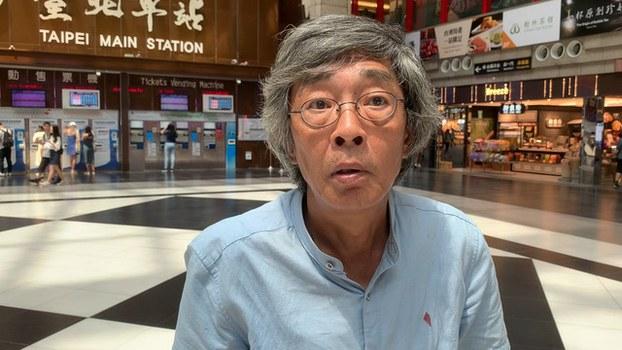 香港铜锣湾书店前店长林荣基(记者黄春梅摄)