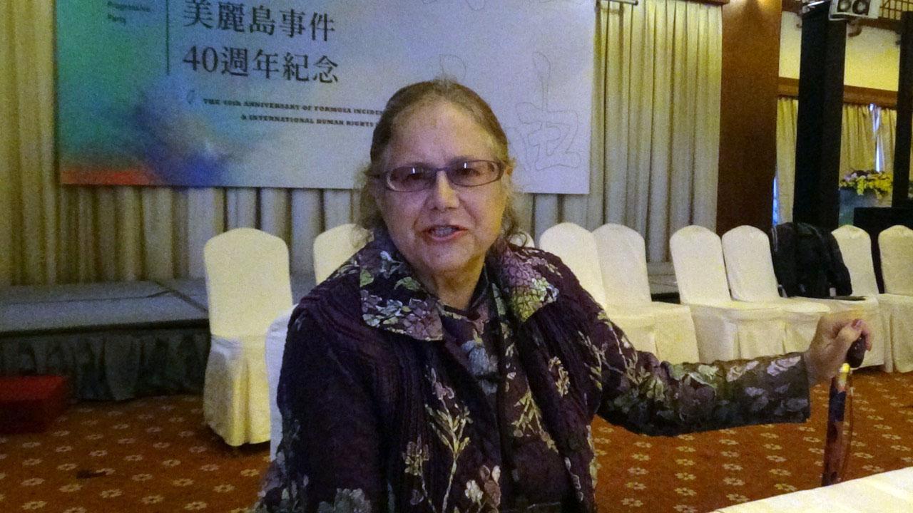 人权工作者艾琳达。(记者夏小华摄)