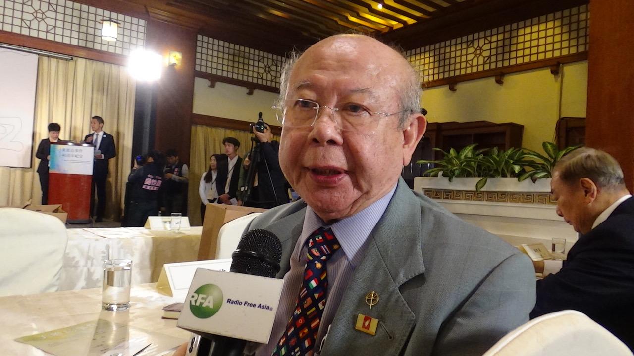 美丽岛受刑人辩护律师李胜雄。(记者夏小华摄)