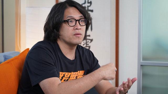 台北大学犯罪学研究所助理教授沈伯洋。(记者李宗翰摄)