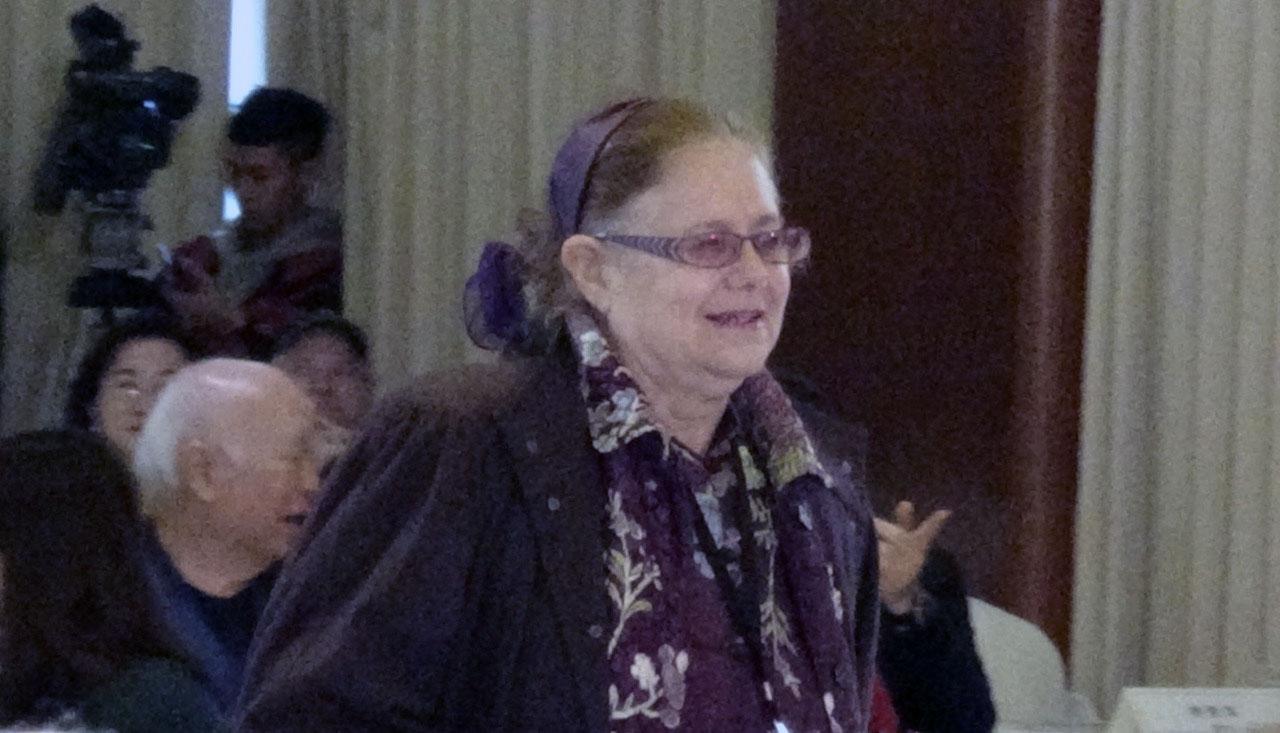 二零一九年十二月九日人權工作者艾琳達出席美麗島事件四十週年紀念活動。(資料照、記者夏小華攝)