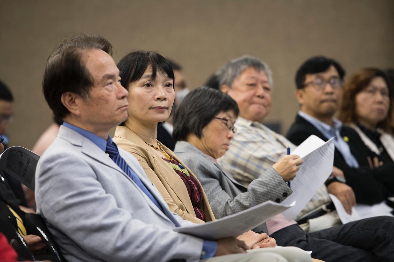 台湾转型正义资料库公开上网记者会。(黄谦贤提供)