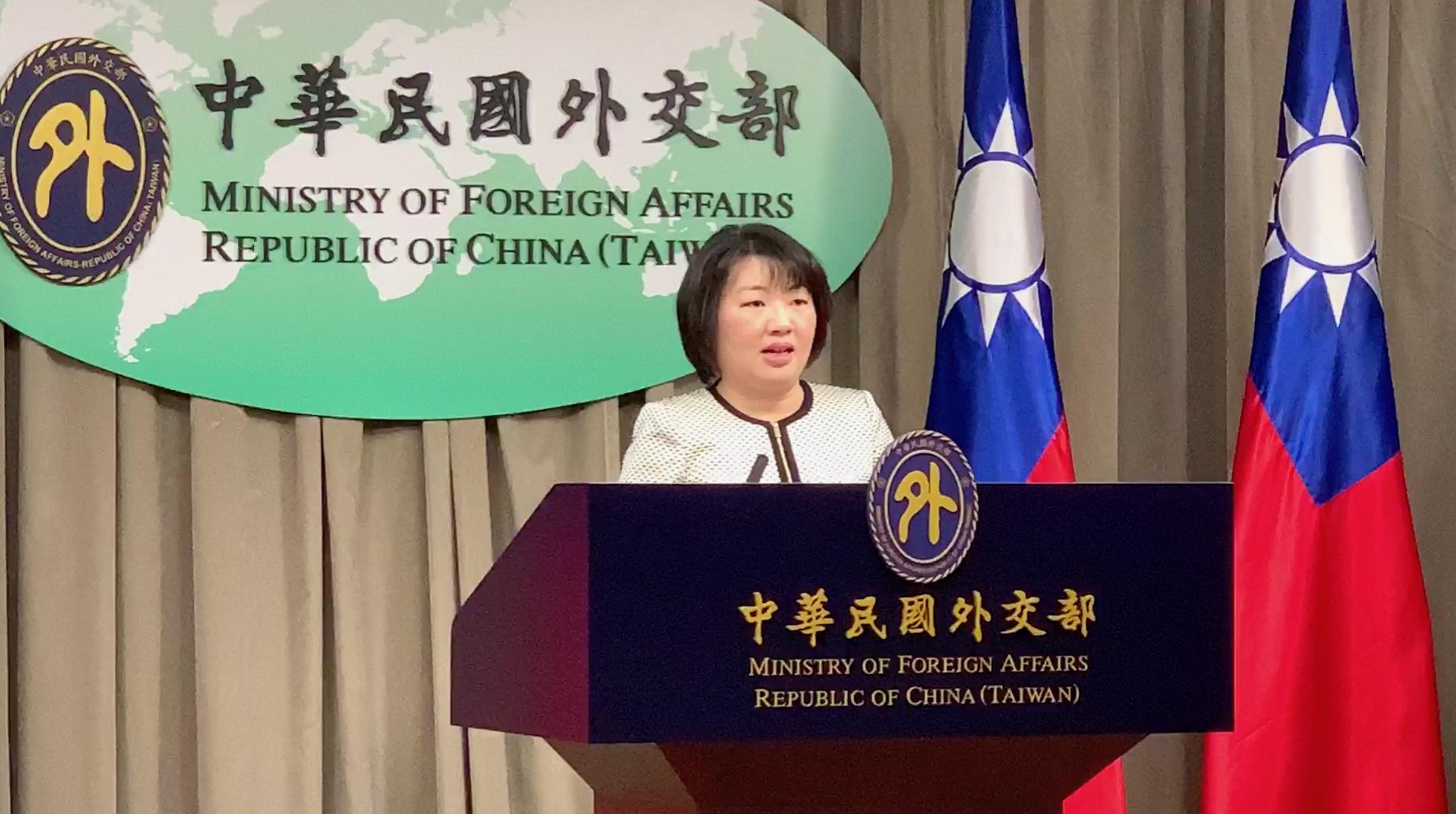 台湾外交部欧洲司副司长陈咏韶12日在例行记者会上指出,欧洲政要、媒体对台湾防疫奏效,多作探讨和推崇。(记者夏小华摄)