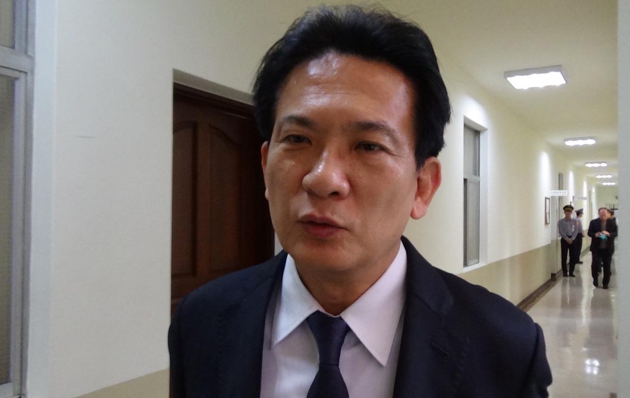 民进党立委林俊宪忧心国民党内现在以韩国瑜说了算。(记者夏小华摄)