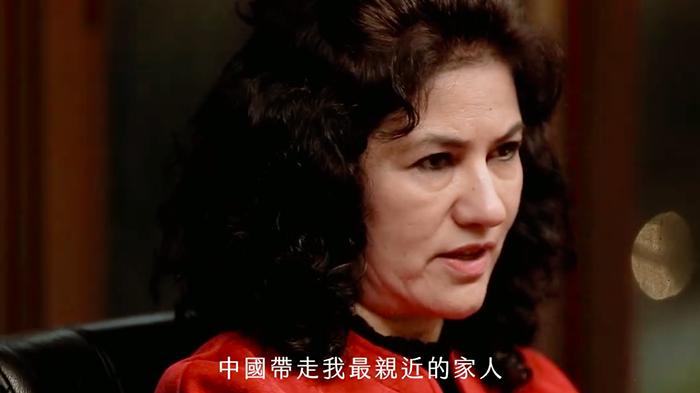 声援维吾尔人运动执行长鲁珊‧阿巴斯(Rushan Abbas)(视频截图)