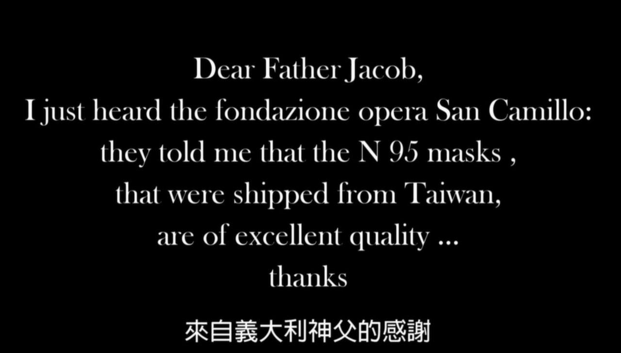 意大利神父捎来对台湾的感谢。(罗东圣母医院提供)