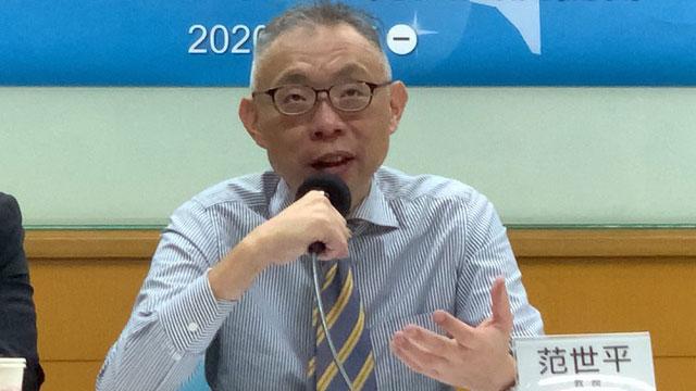 台湾师范大学政治学研究所教授范世平。(记者夏小华摄)