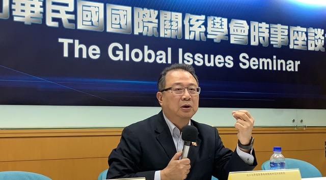淡江大学国际事务与战略研究所副教授黄介正。(记者夏小华摄)