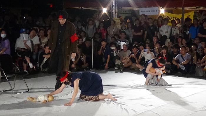 台北六四三十周年纪念晚会,蔡瑞月舞团表演。(记者夏小华摄)