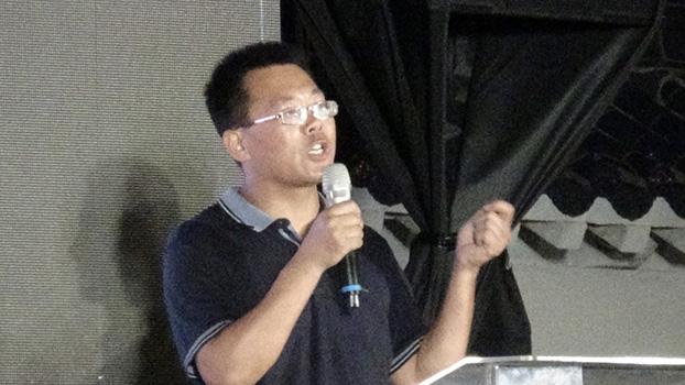 人权律师滕彪(记者夏小华摄)