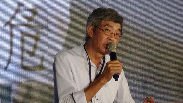 香港铜锣湾书店前老板林荣基(记者夏小华摄)