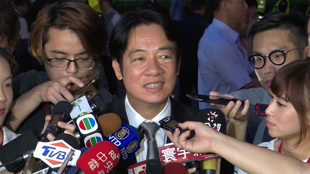 台湾前阁揆赖清德出席六四三十周年晚会(记者李宗翰摄)