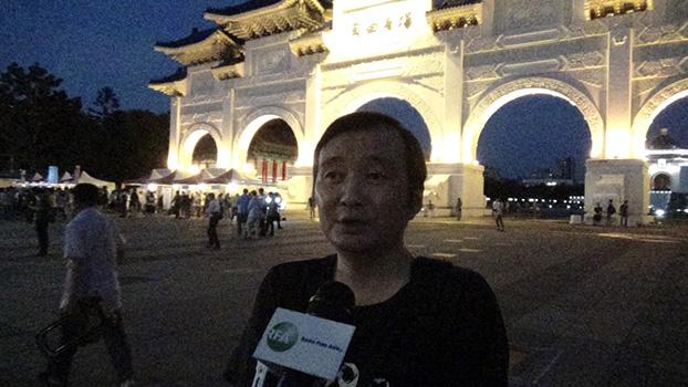 滞台中国大陆异议人士龚与剑(记者夏小华摄)