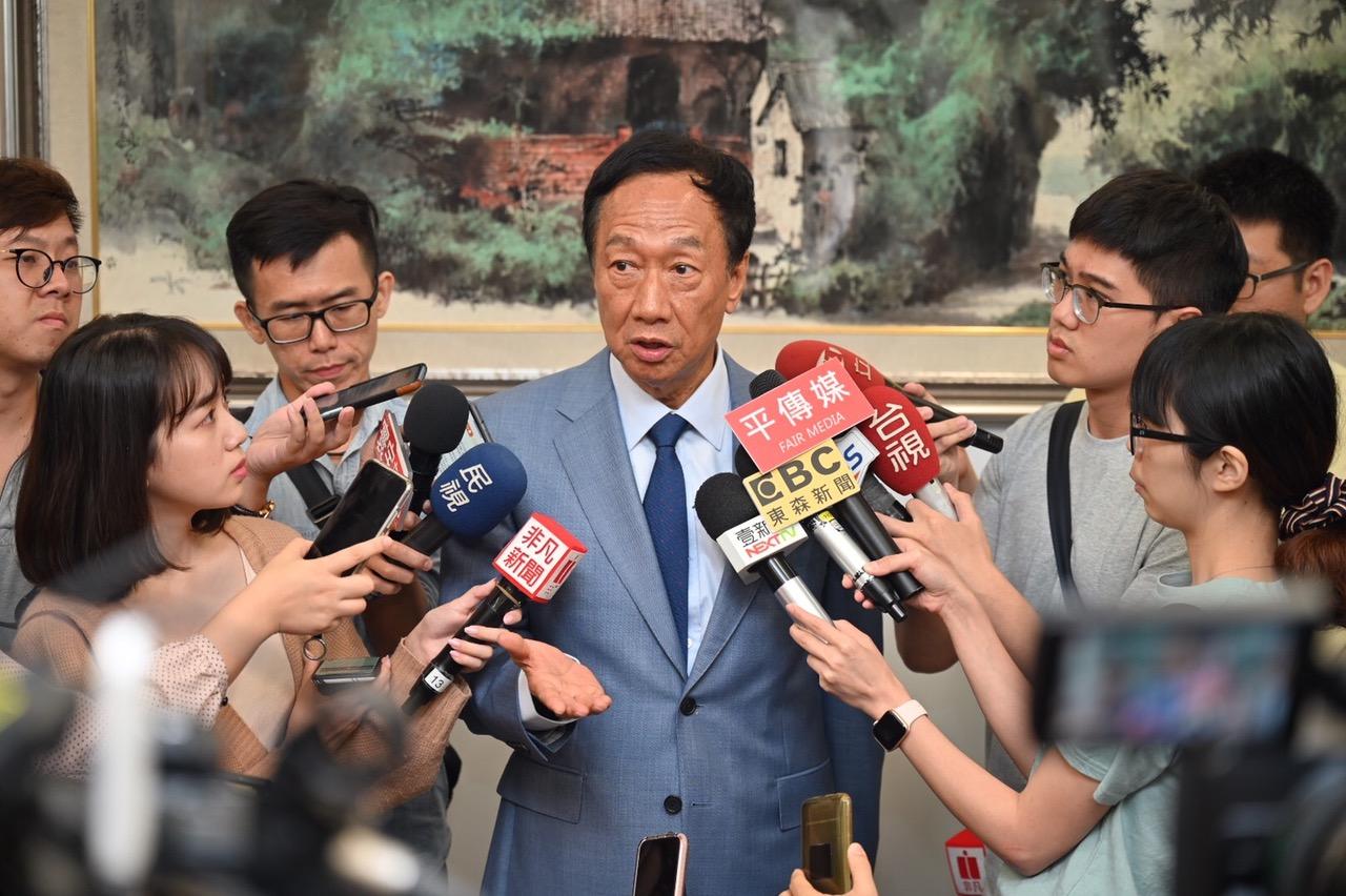 國民黨內總統初選參選人郭臺銘期待香港繁榮穩定。(郭臺銘陣營提供)