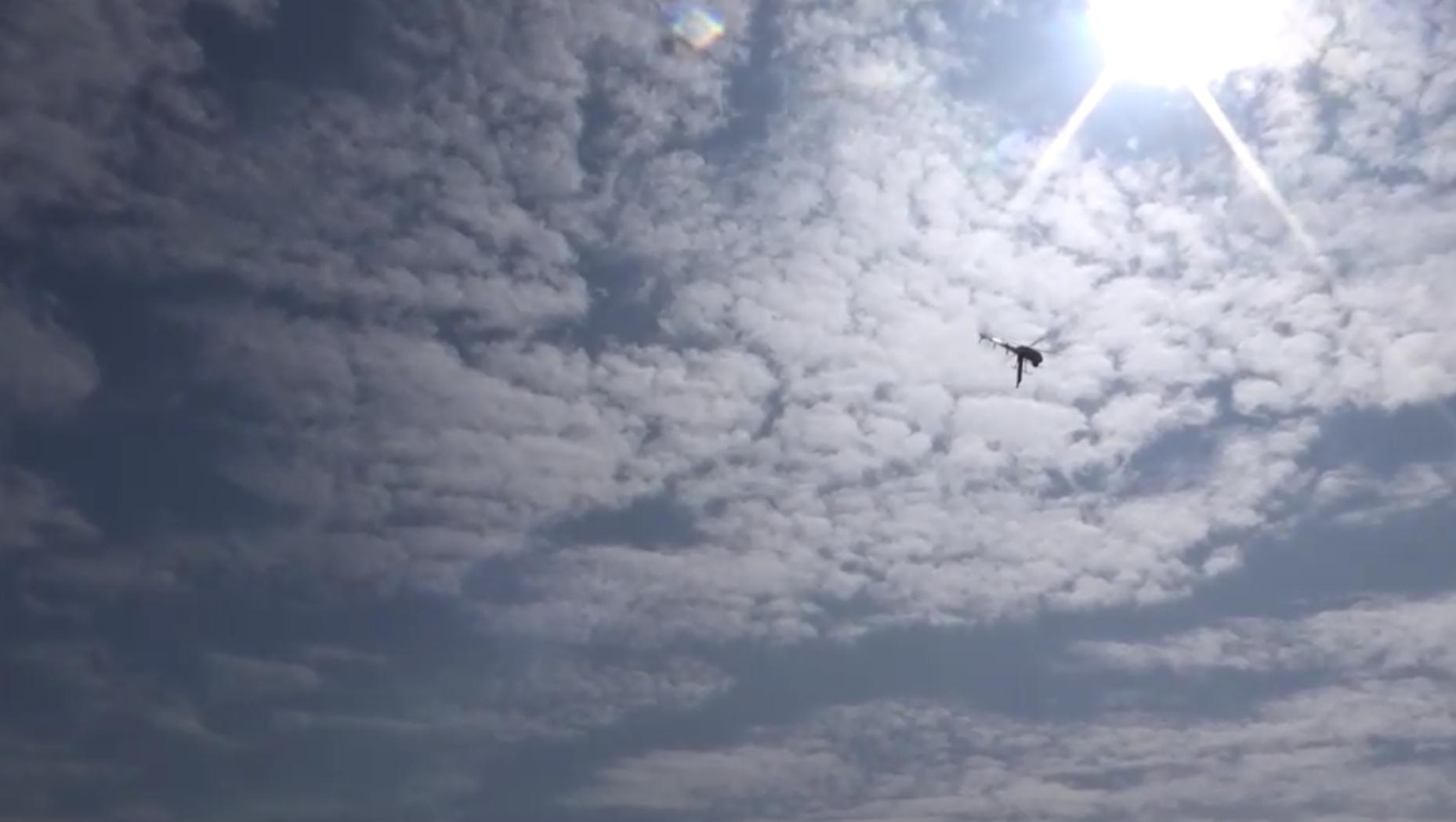 無人機爲海巡署偵察越界行爲新利器。(海巡署提供)