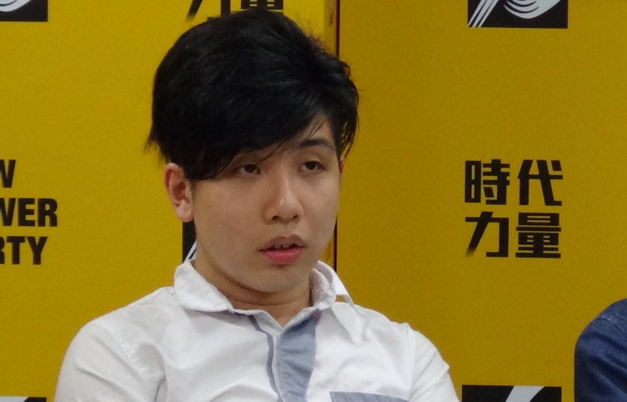 """""""学生独立联盟""""成员吕俊贤。(记者夏小华摄)"""