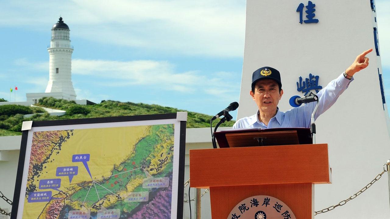 马英九总统任内曾巡视离岛彭佳屿。(马英九脸书)