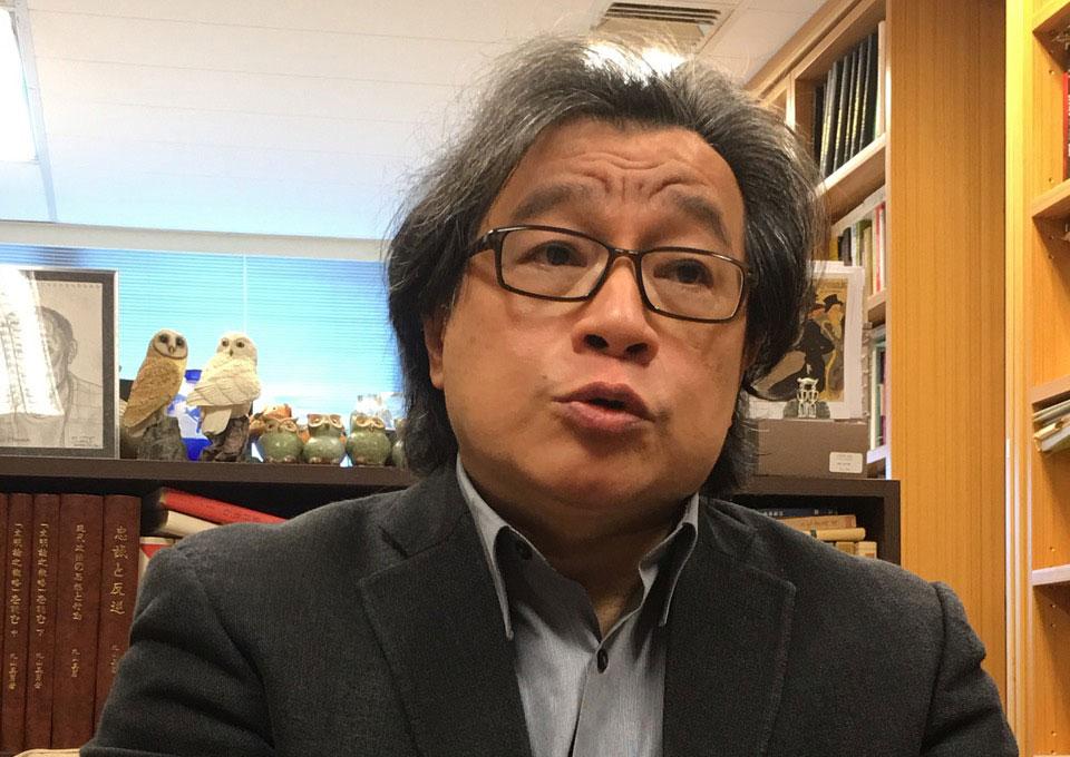 台湾的中央研究院台湾史研究所副研究员吴叡人(夏小华摄)