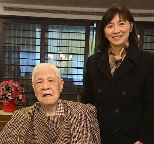 台联党代理主席周倪安今年一月拜访李登辉,最后一次见面。(周倪安提供)