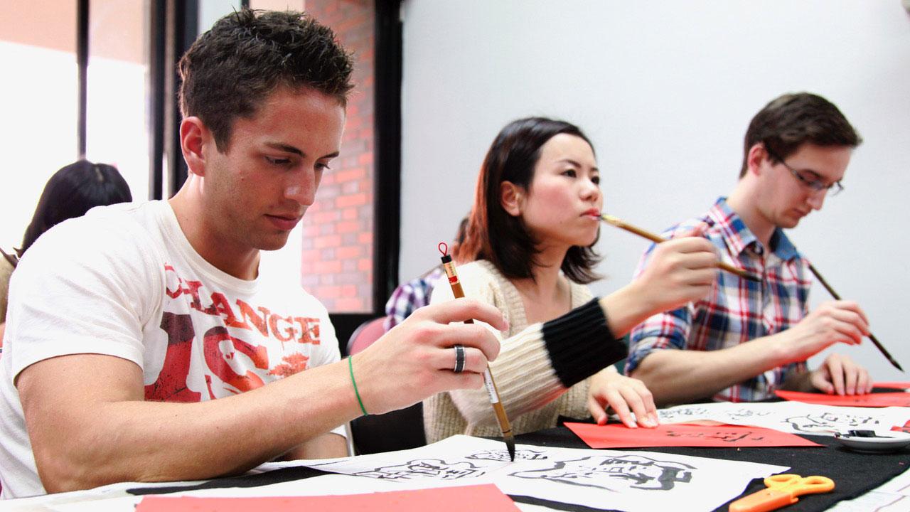 台灣師范大學國語中心吸引來自各地的外籍生學華語。(國立台灣師范大學提供)