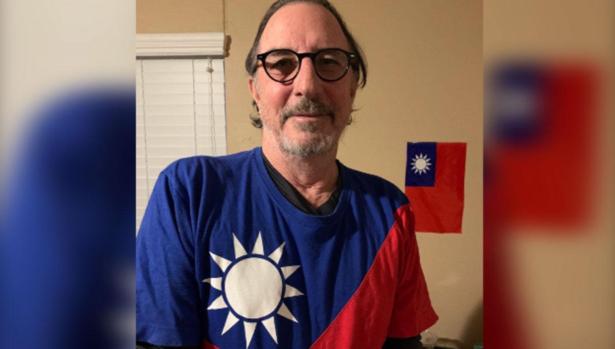 曾多次到台湾旅游、美国海军陆战队退役的美籍人士Chris Allen Swanson表示,支持自由民主,若中共武力犯台,愿为台湾作战。(Chris提供)