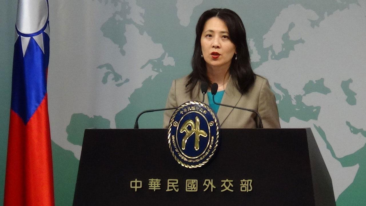 台湾的外交部发言人欧江安12号在例行记者会上,证实捷克议长明年将访问台湾。(记者夏小华摄)