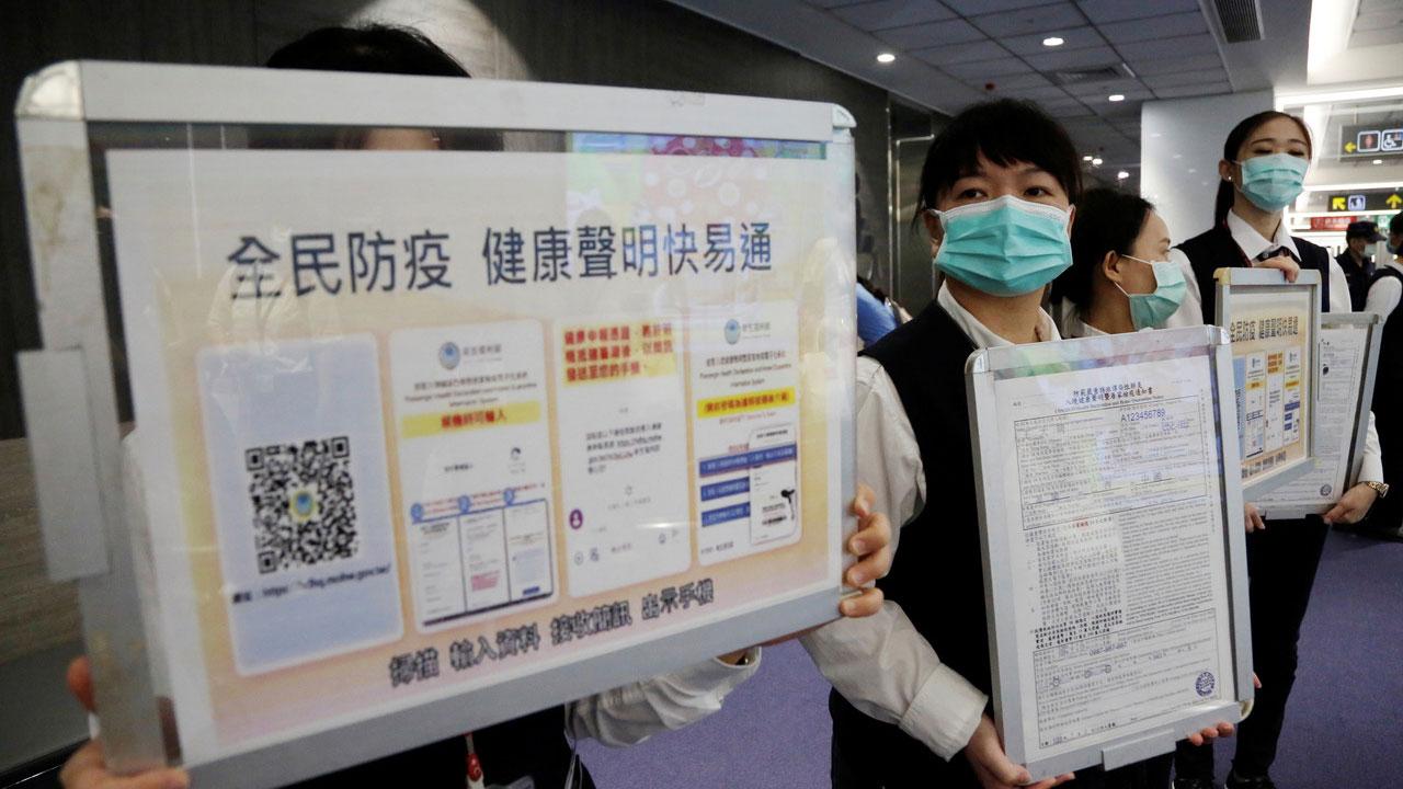 台湾入境防疫措施。(路透社)