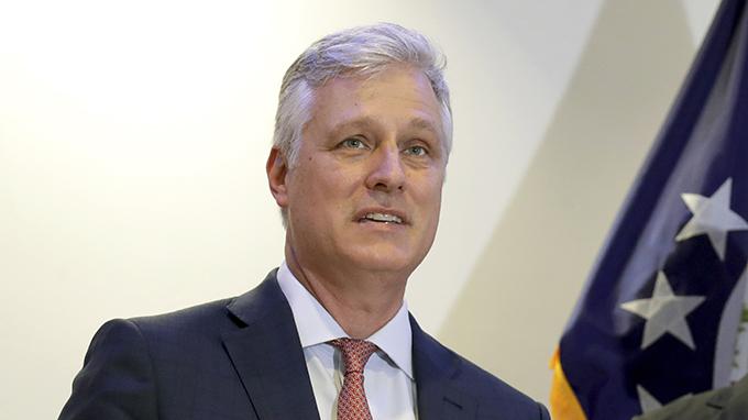 美国国家安全顾问奥布莱恩(Robert O'Brien)(美联社)