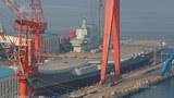 """中国大陆第一艘国产航母""""001A""""将在近日下水.jpg"""