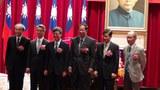 中研院举行交接典礼,新任院长廖俊智(左二)正式上任。.JPG