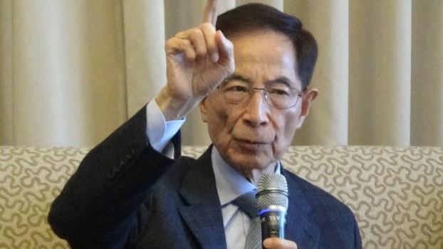香港民主党创办人李柱铭(记者夏小华摄)