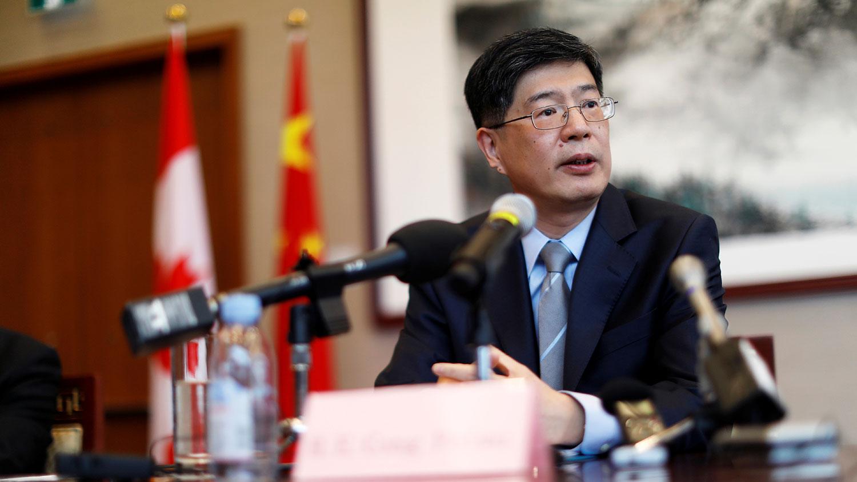 中国驻加拿大大使丛培武(路透社图片)