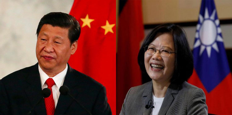 左图:中国国家主席习近平;右图:台湾总统蔡英文。(路透社)