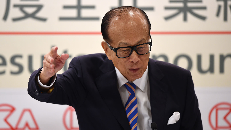 香港首富李嘉诚(AFP)